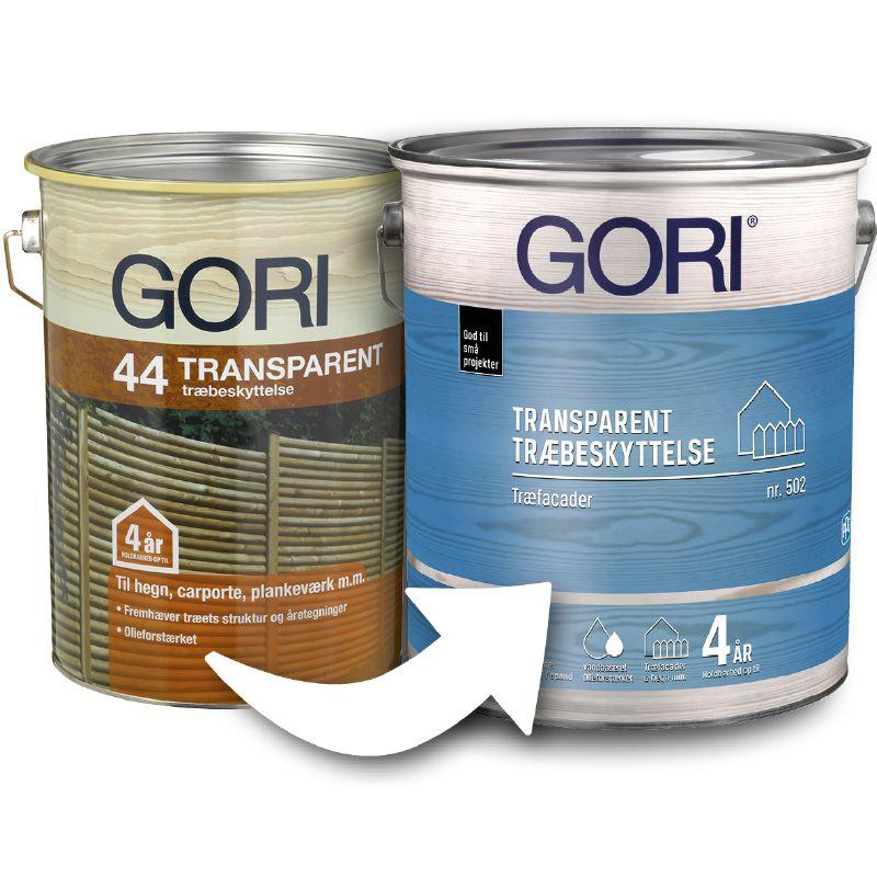 Gori 44 Transparent til Gori 502 Transparent Træbeskyttelse