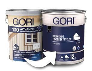 Gori 100 Advance til Gori 606 Dækkende Træbeskyttelse