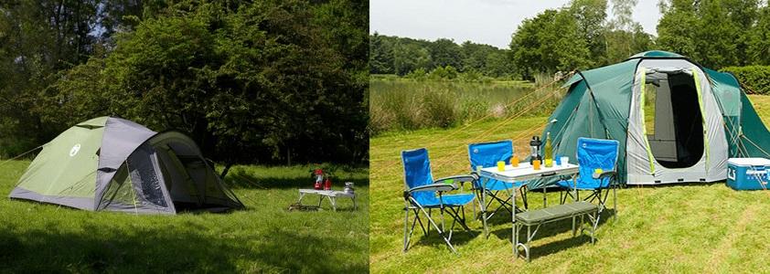 Camping udstyr - Telte, luftmadras, køletasker og meget mere.