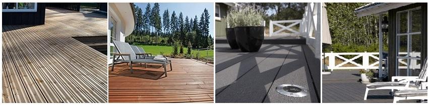 Flere forskellige typer terrassebrædder i høj kvalitet til billige priser