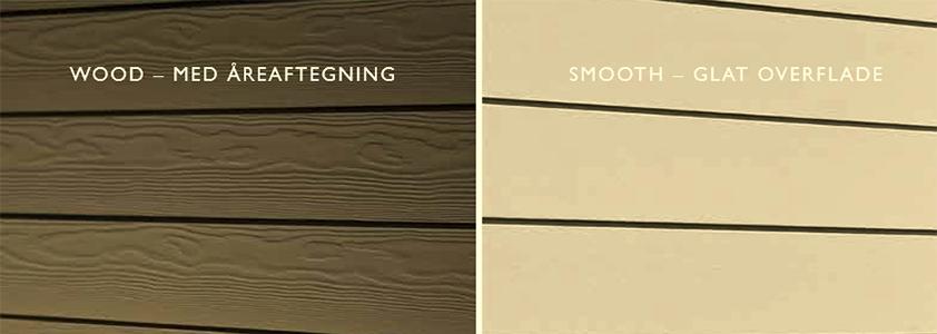 Cedral Lap med træstruktur eller glat overflade