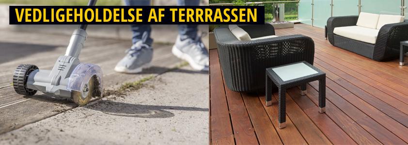 Vedligeholdelse af terrassen - guide