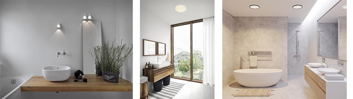 Badeværelseslamper - egnede vil vådrum